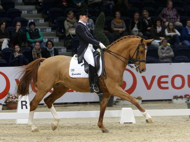 Nadine Husenbeth - hier mit Florida - zählt zum deutschen Nationenpreis-Team bei den Löwen Classics. (Foto: Stroscher)